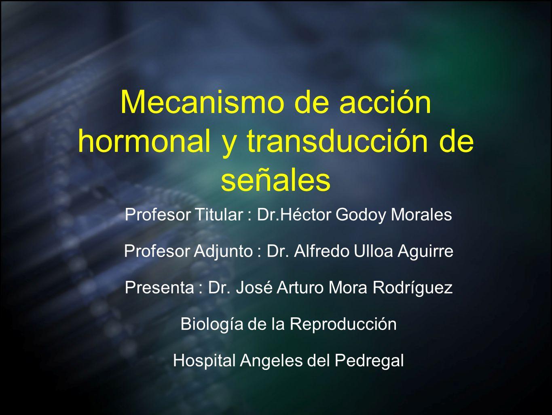 Mecanismo de acción hormonal y transducción de señales