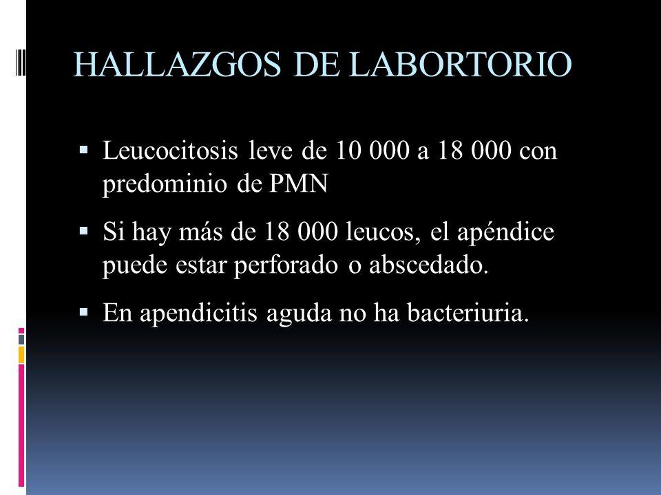 HALLAZGOS DE LABORTORIO