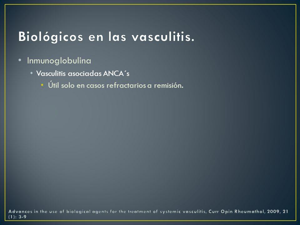 Biológicos en las vasculitis.
