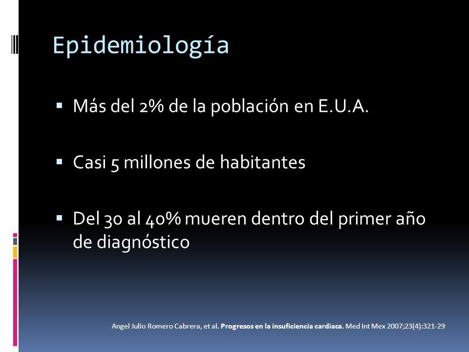 Epidemiología Más del 2% de la población en E.U.A.