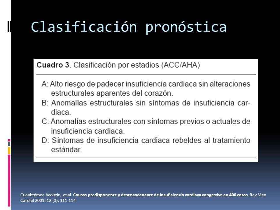 Clasificación pronóstica