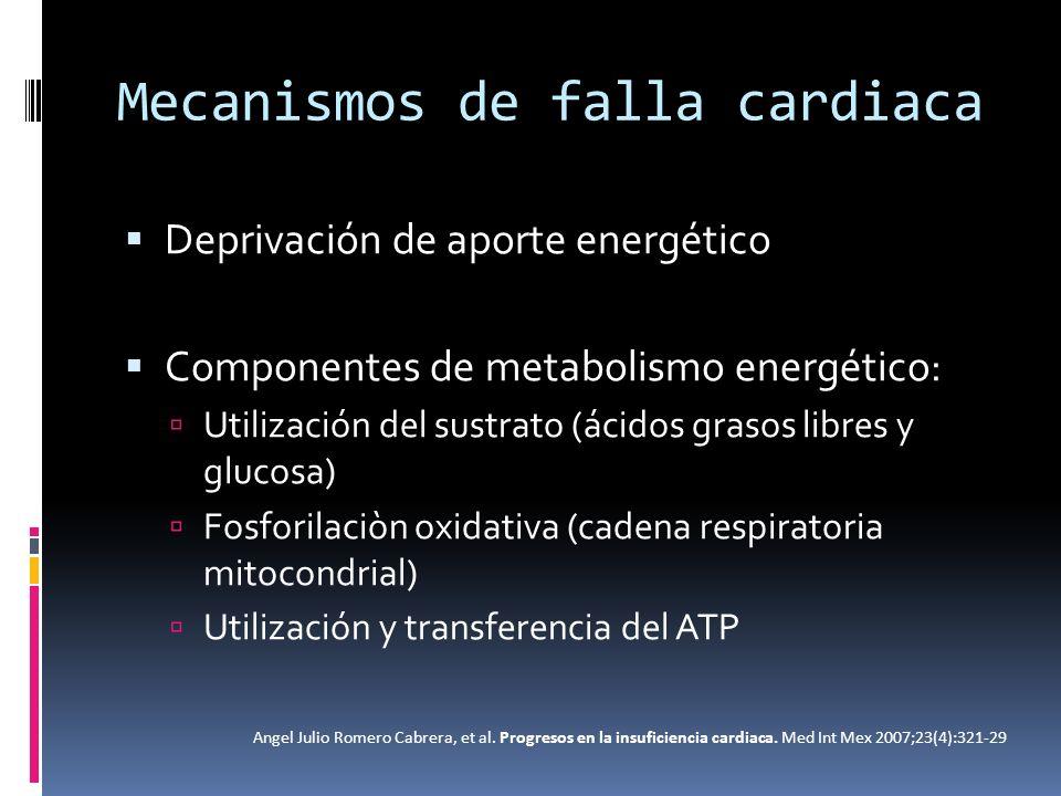 Mecanismos de falla cardiaca