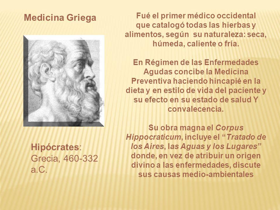 Hipócrates: Grecia, 460-332 a.C.