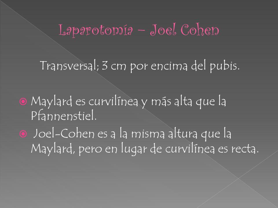 Laparotomía – Joel Cohen