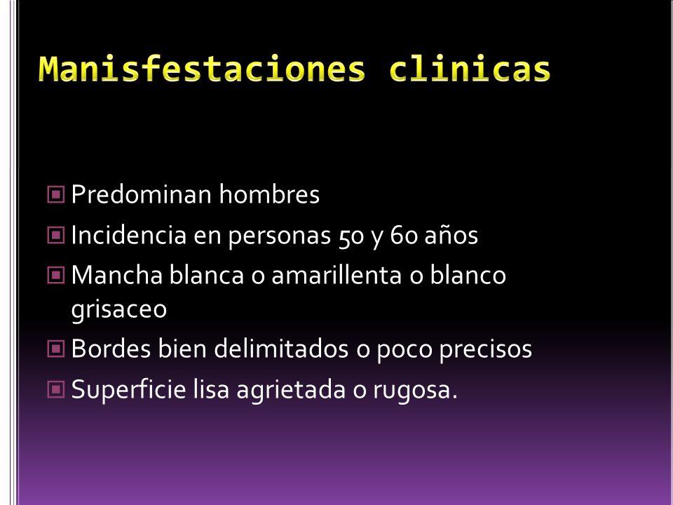 Manisfestaciones clinicas