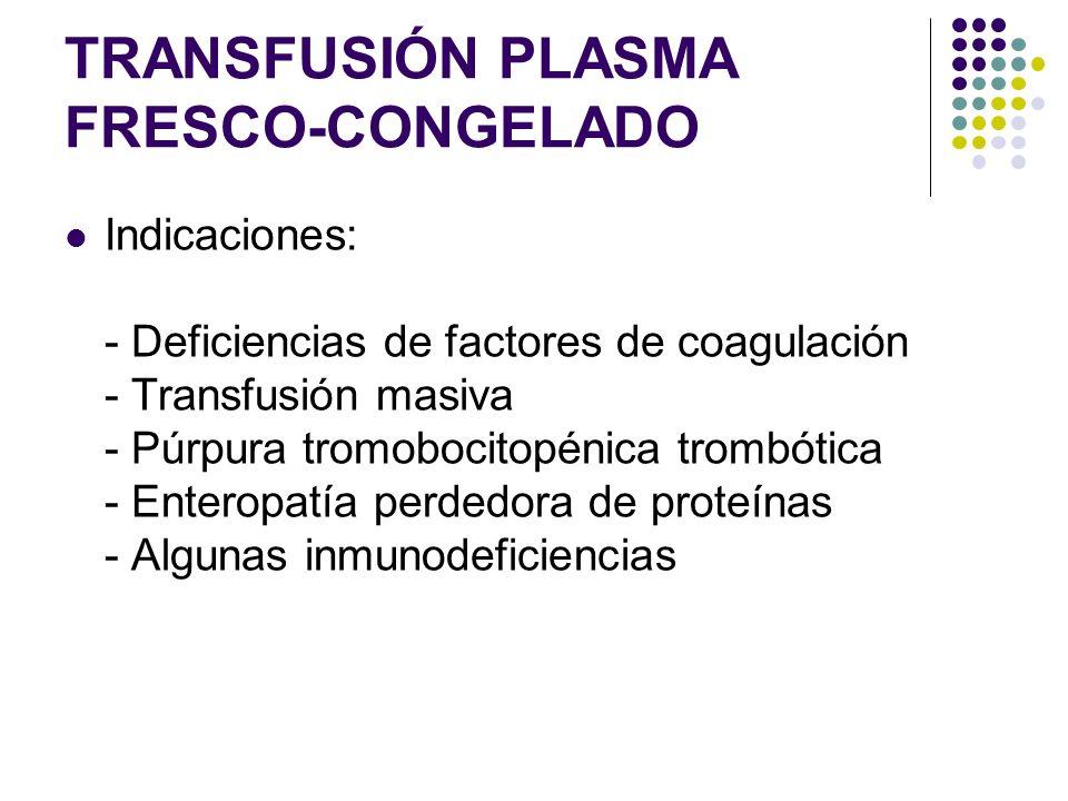 TRANSFUSIÓN PLASMA FRESCO-CONGELADO