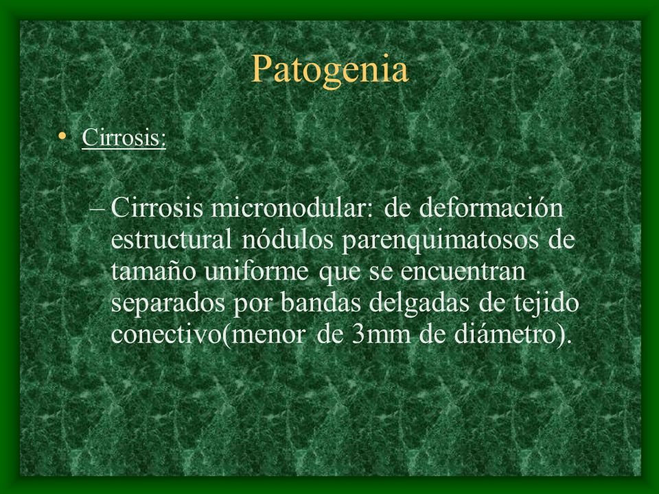 PatogeniaCirrosis:
