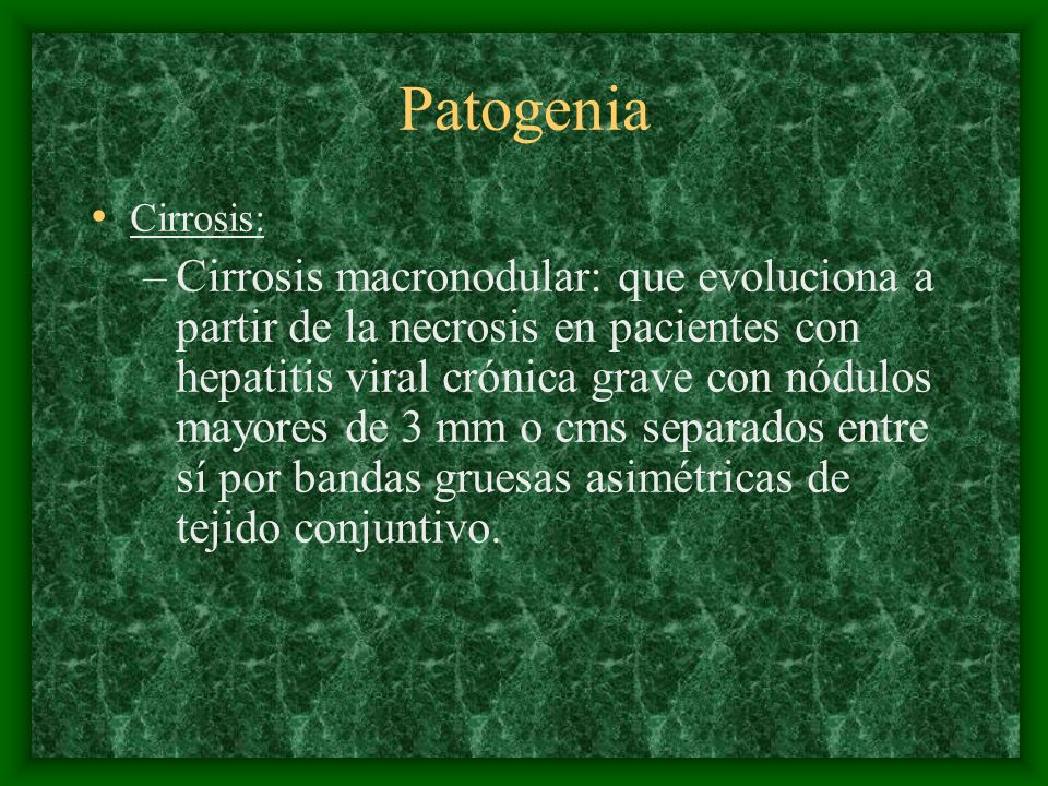 Patogenia Cirrosis: