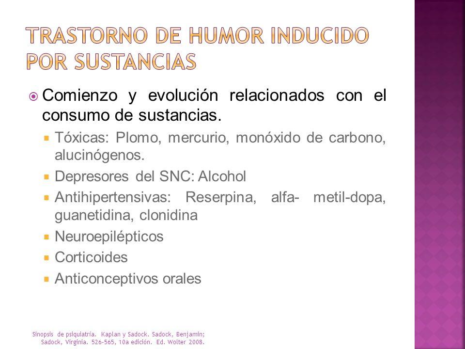 Trastorno de humor inducido por sustancias