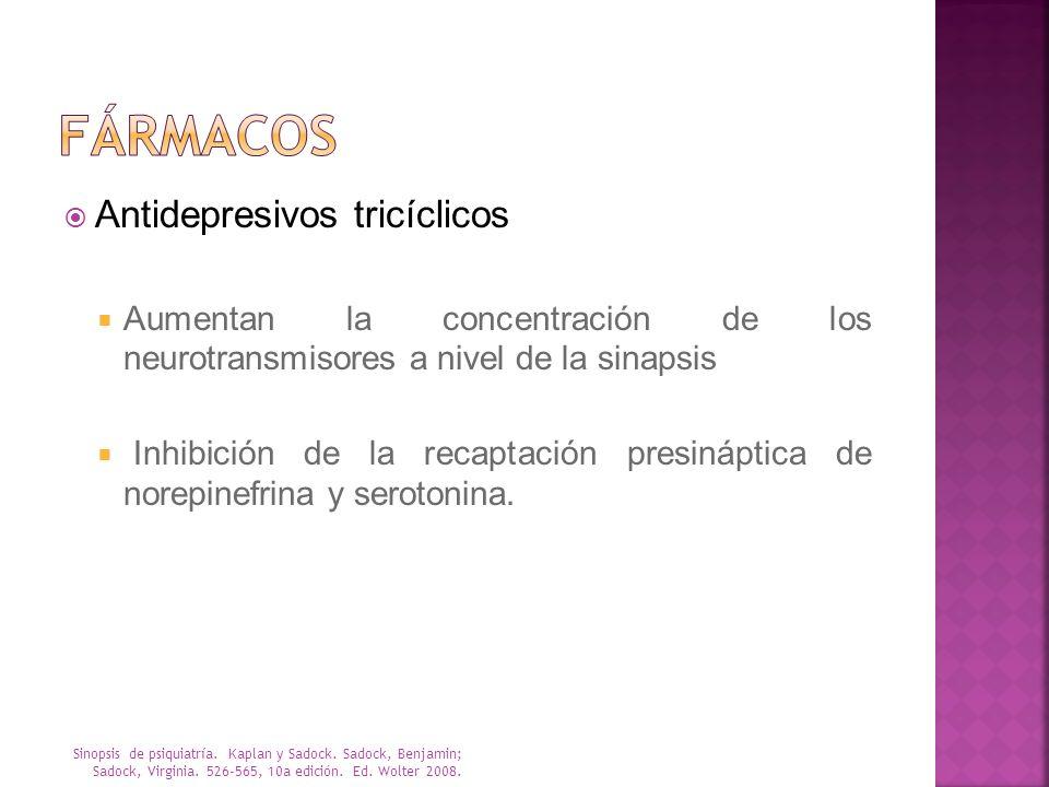 fármacos Antidepresivos tricíclicos