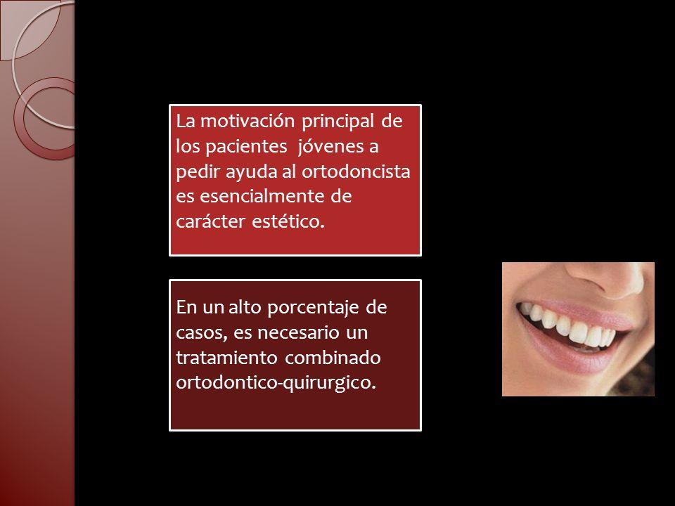La motivación principal de los pacientes jóvenes a pedir ayuda al ortodoncista es esencialmente de carácter estético.