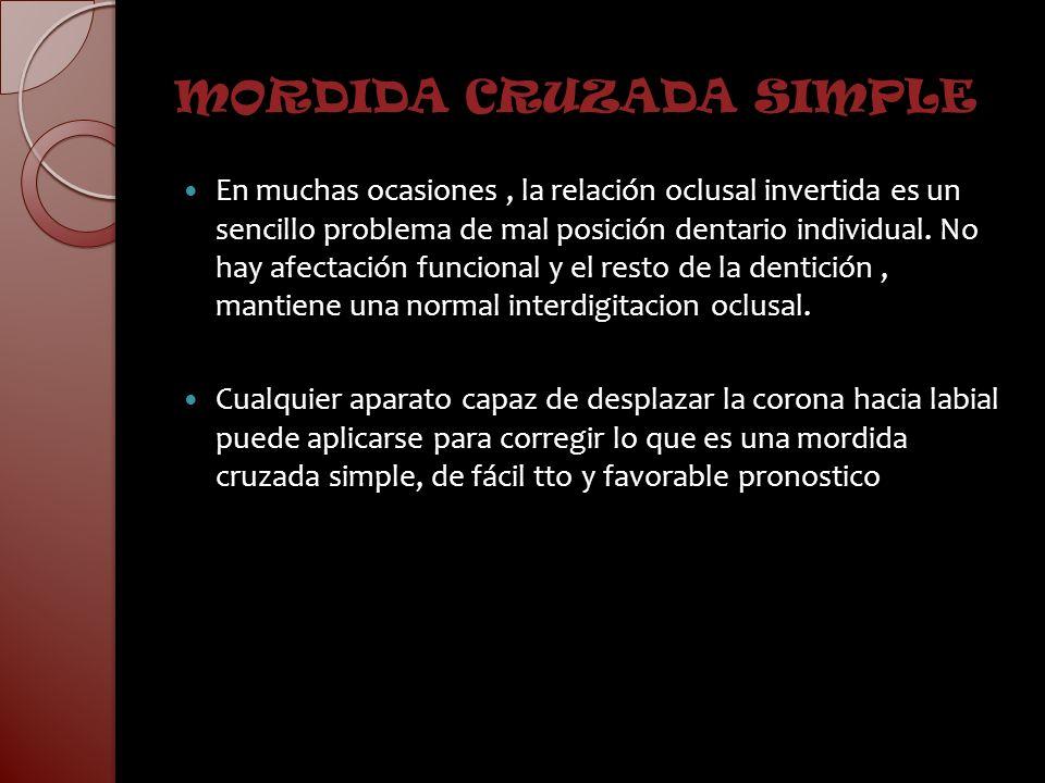 MORDIDA CRUZADA SIMPLE