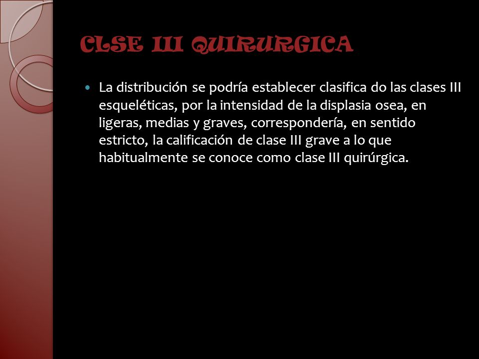 CLSE III QUIRURGICA