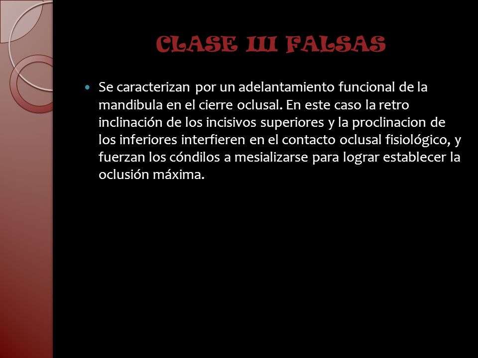 CLASE III FALSAS