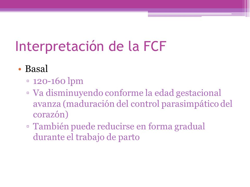 Interpretación de la FCF