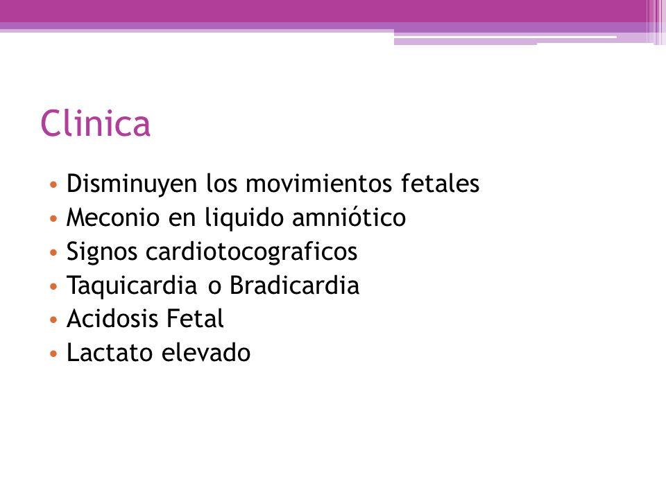 Clinica Disminuyen los movimientos fetales