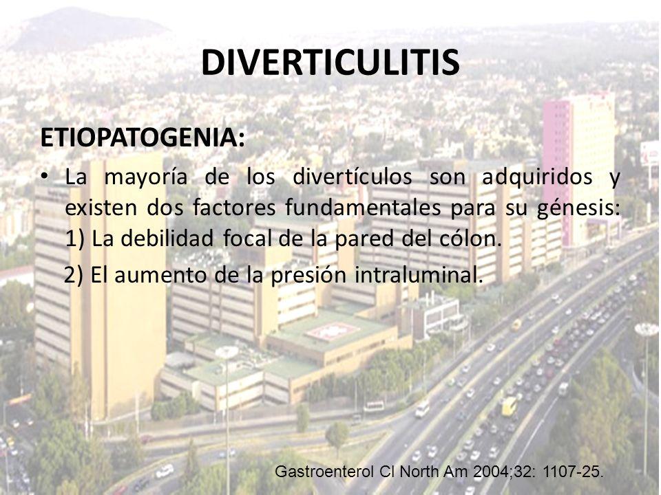 DIVERTICULITIS ETIOPATOGENIA: