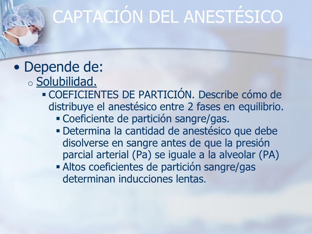 CAPTACIÓN DEL ANESTÉSICO