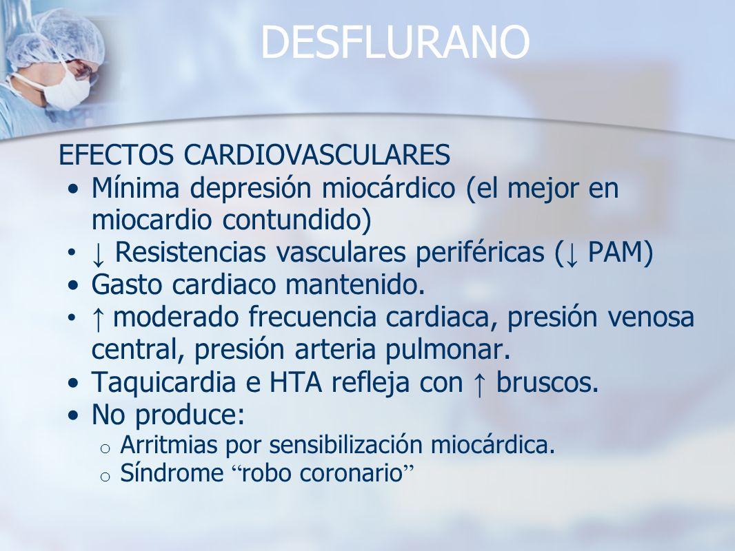 DESFLURANO EFECTOS CARDIOVASCULARES
