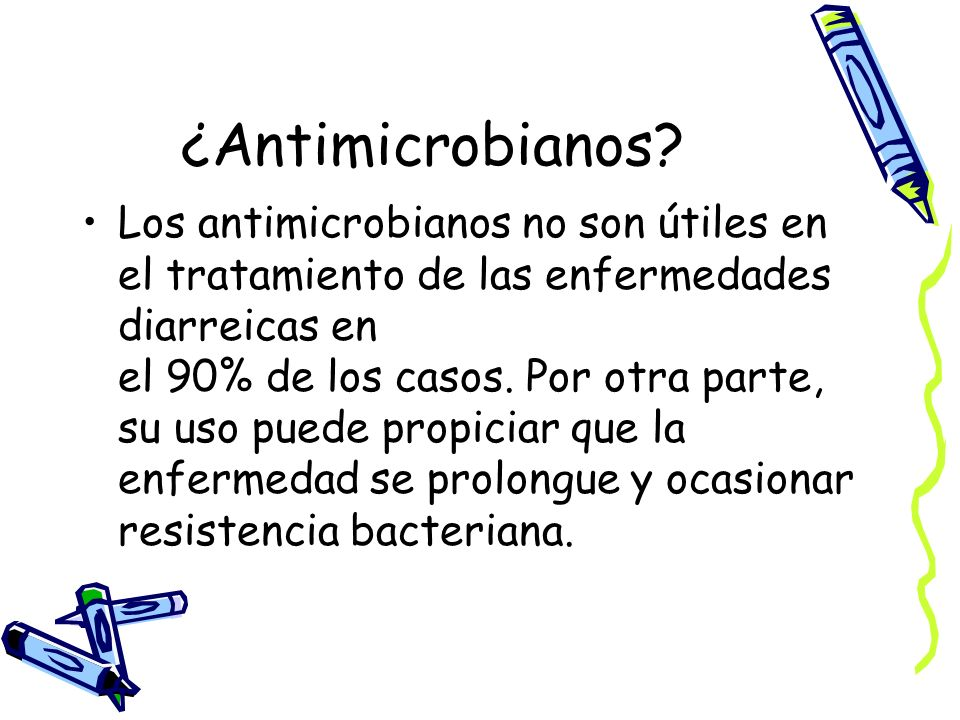 ¿Antimicrobianos