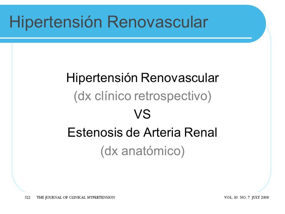 Hipertensión Renovascular