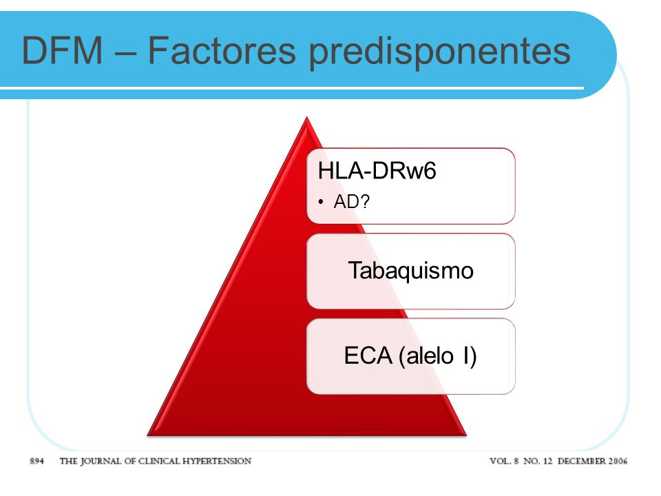 DFM – Factores predisponentes