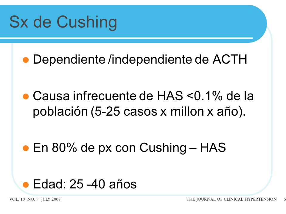 Sx de Cushing Dependiente /independiente de ACTH