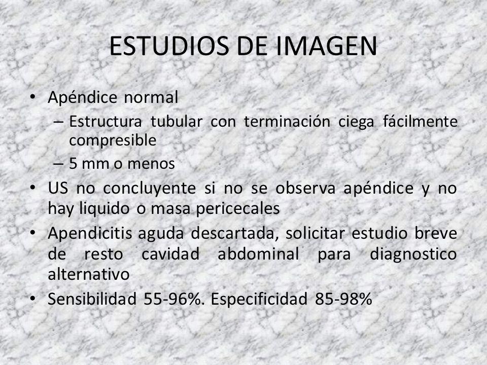 ESTUDIOS DE IMAGEN Apéndice normal