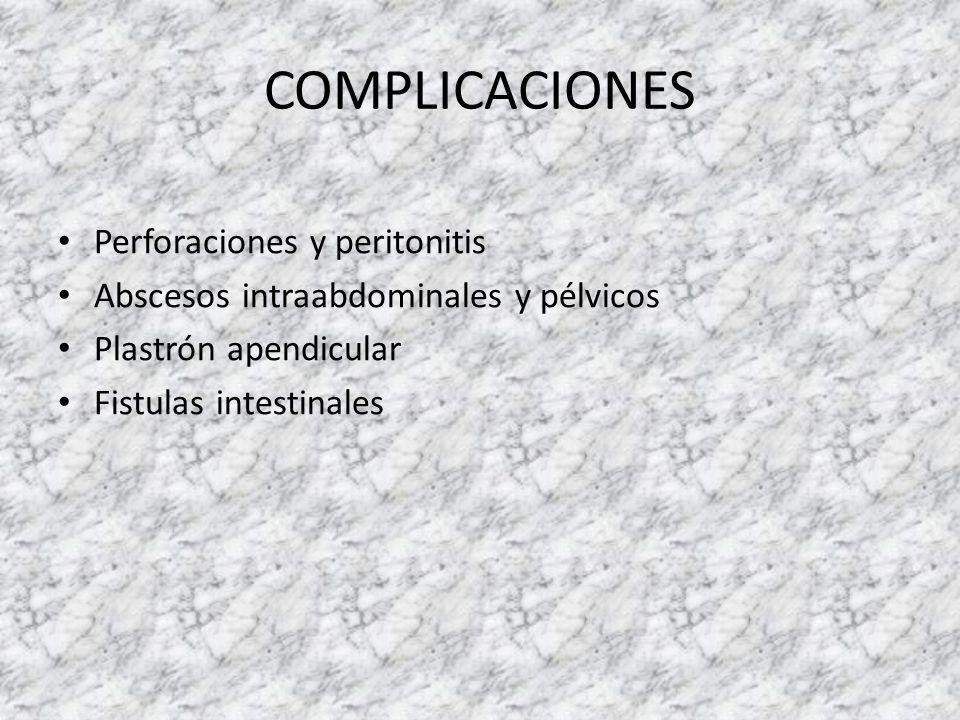 COMPLICACIONES Perforaciones y peritonitis