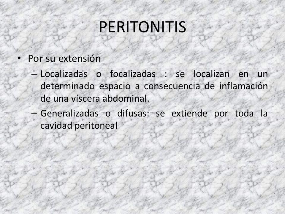 PERITONITIS Por su extensión