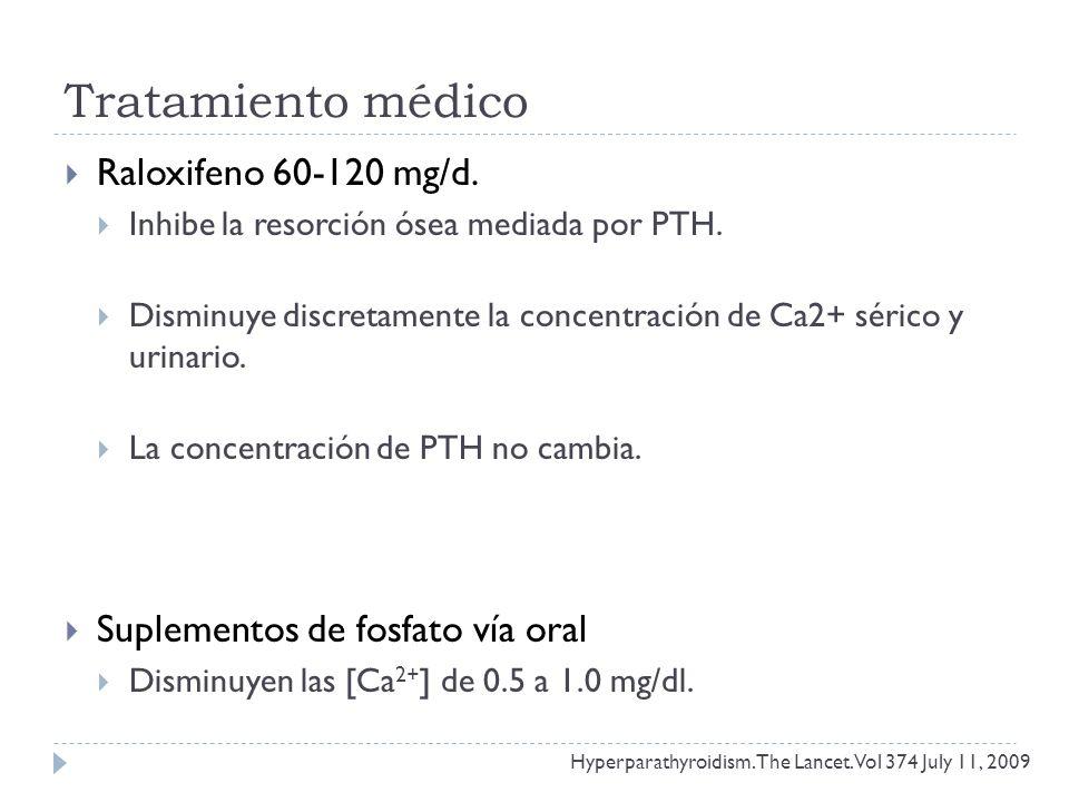 Tratamiento médico Raloxifeno 60-120 mg/d.