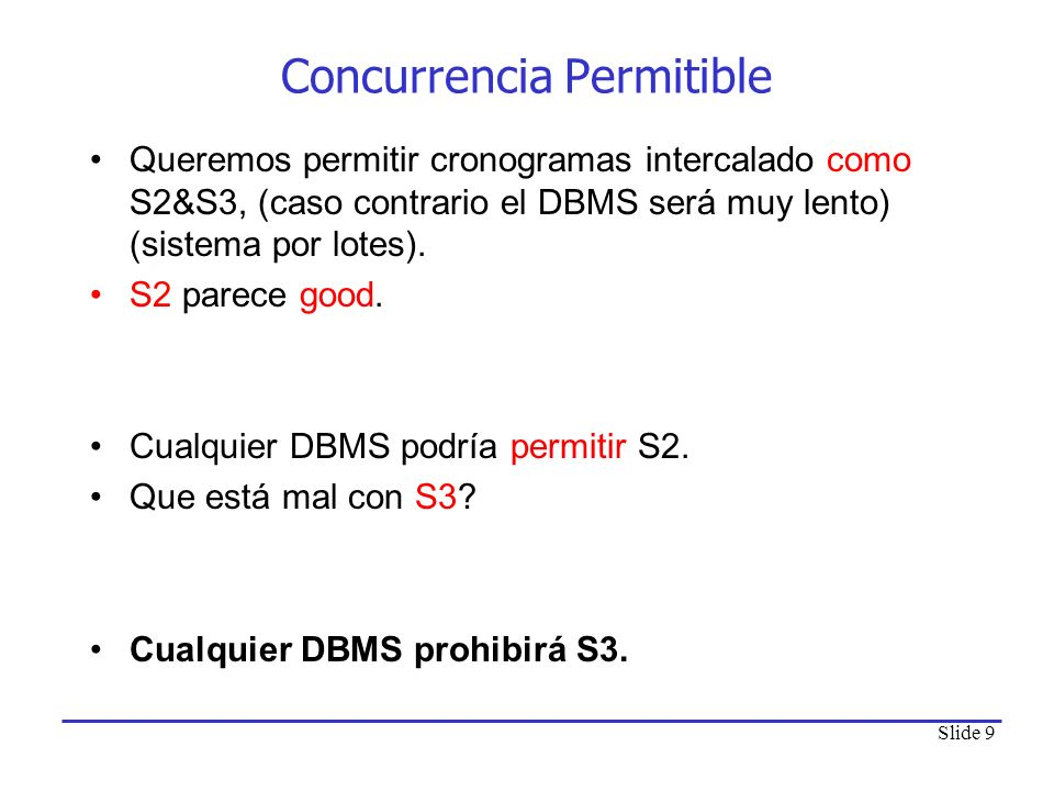 Concurrencia Permitible