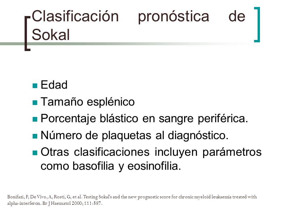 Clasificación pronóstica de Sokal