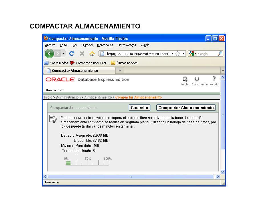 COMPACTAR ALMACENAMIENTO