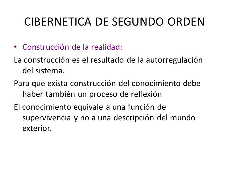 CIBERNETICA DE SEGUNDO ORDEN