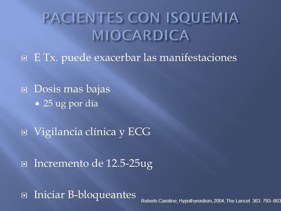 PACIENTES CON ISQUEMIA MIOCARDICA