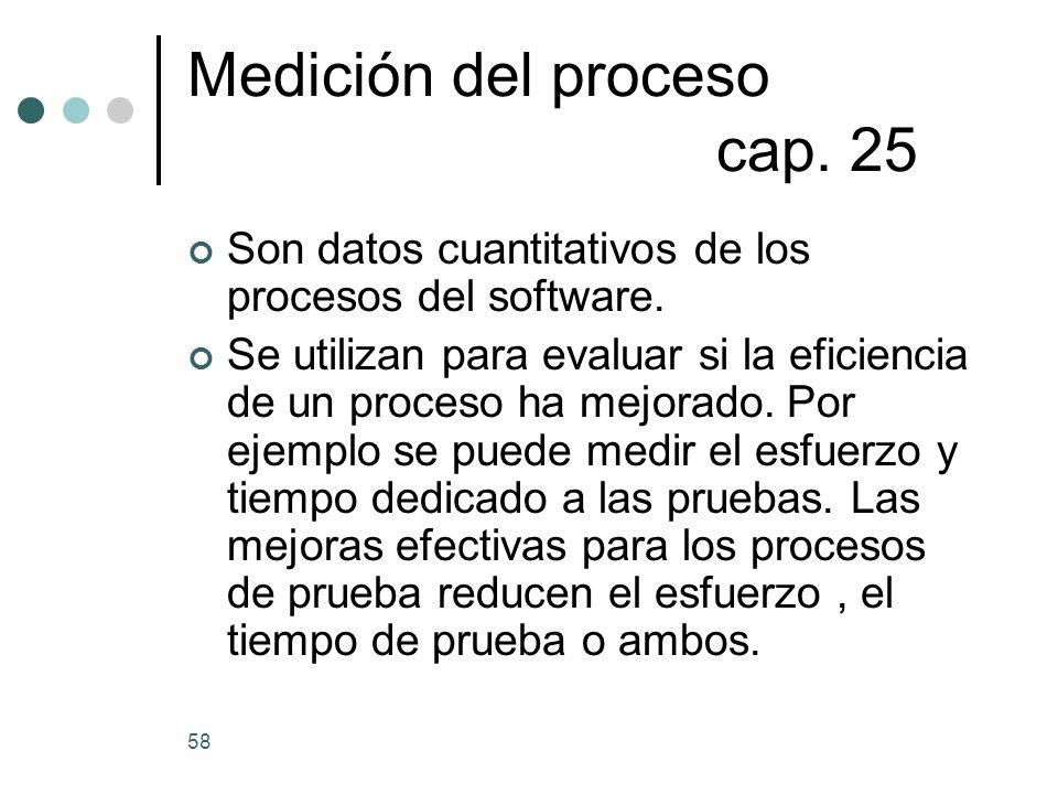 Medición del proceso cap. 25