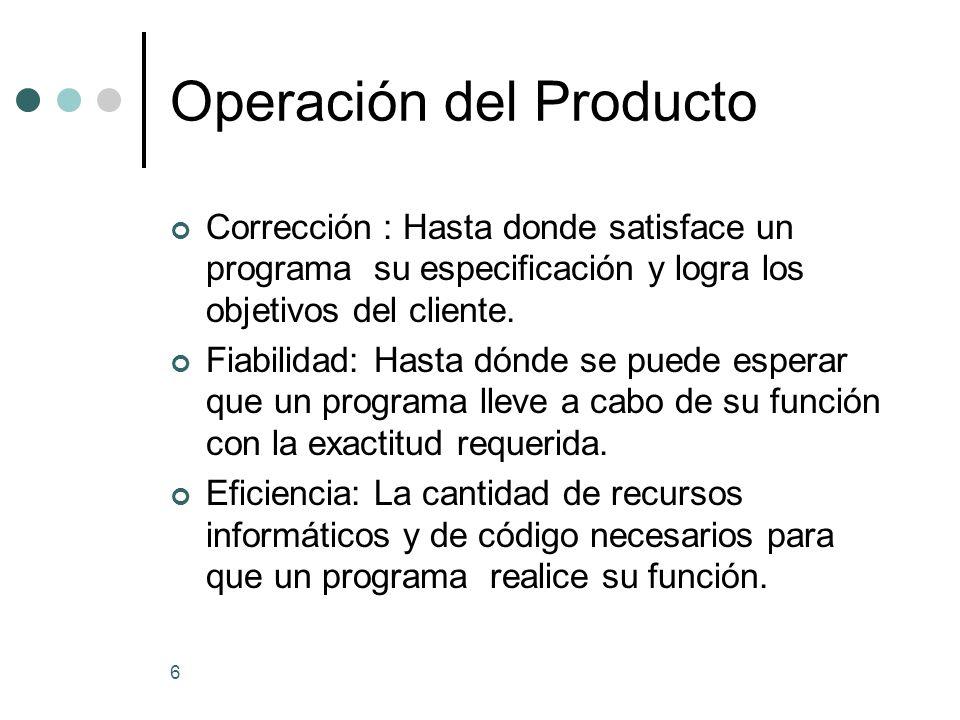 Operación del Producto