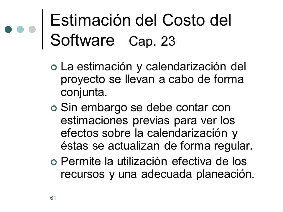 Estimación del Costo del Software Cap. 23