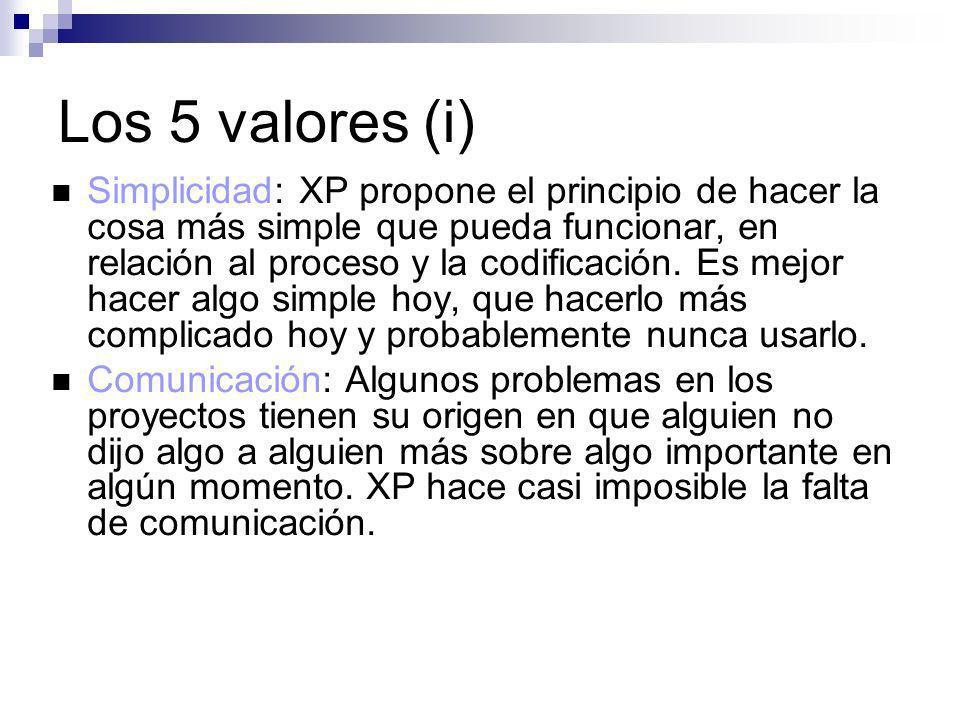 Los 5 valores (i)