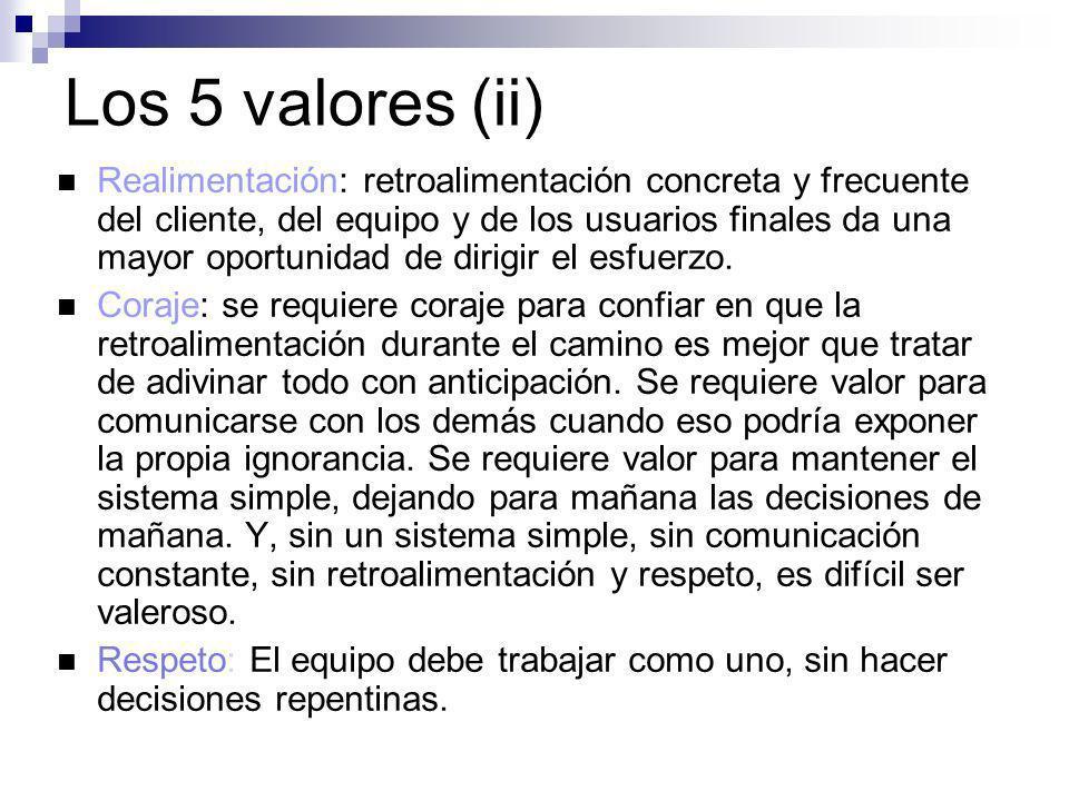 Los 5 valores (ii)