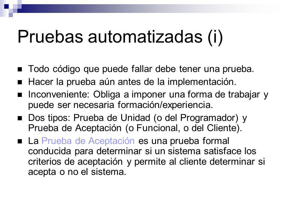 Pruebas automatizadas (i)