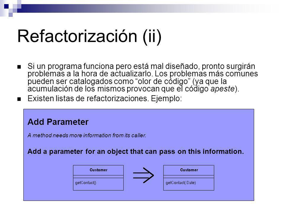 Refactorización (ii) Add Parameter