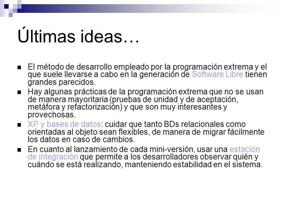 Últimas ideas…