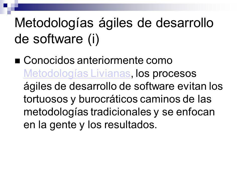 Metodologías ágiles de desarrollo de software (i)