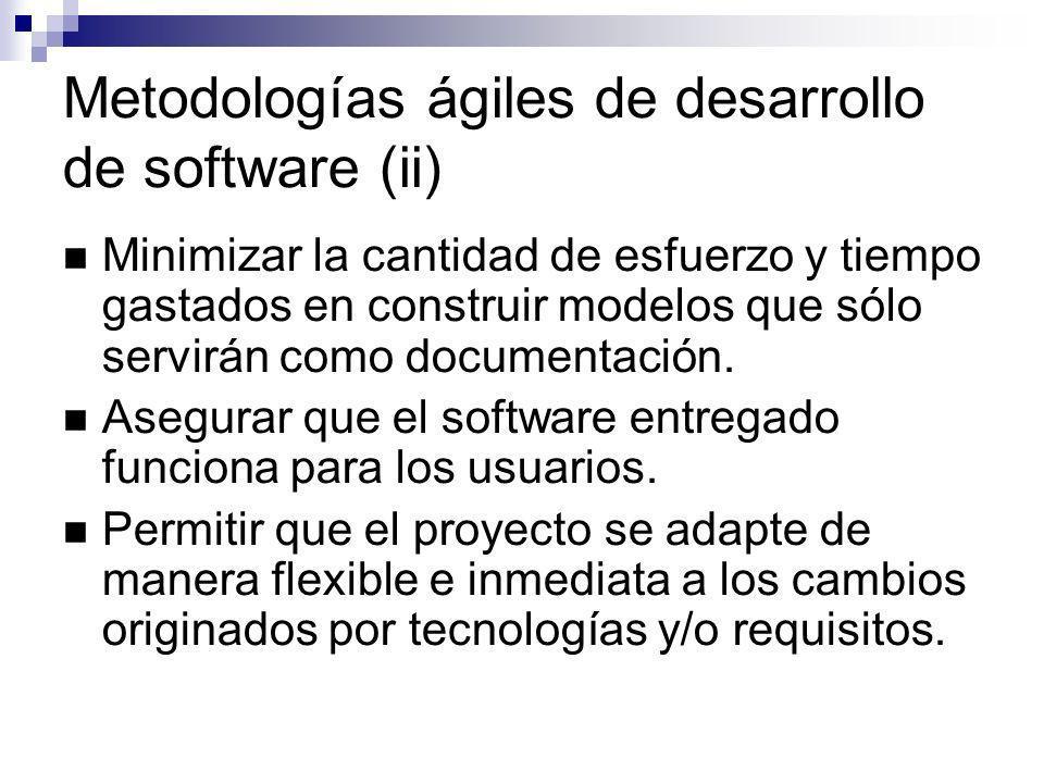 Metodologías ágiles de desarrollo de software (ii)