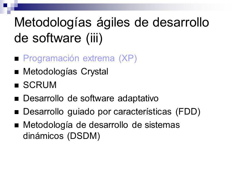 Metodologías ágiles de desarrollo de software (iii)