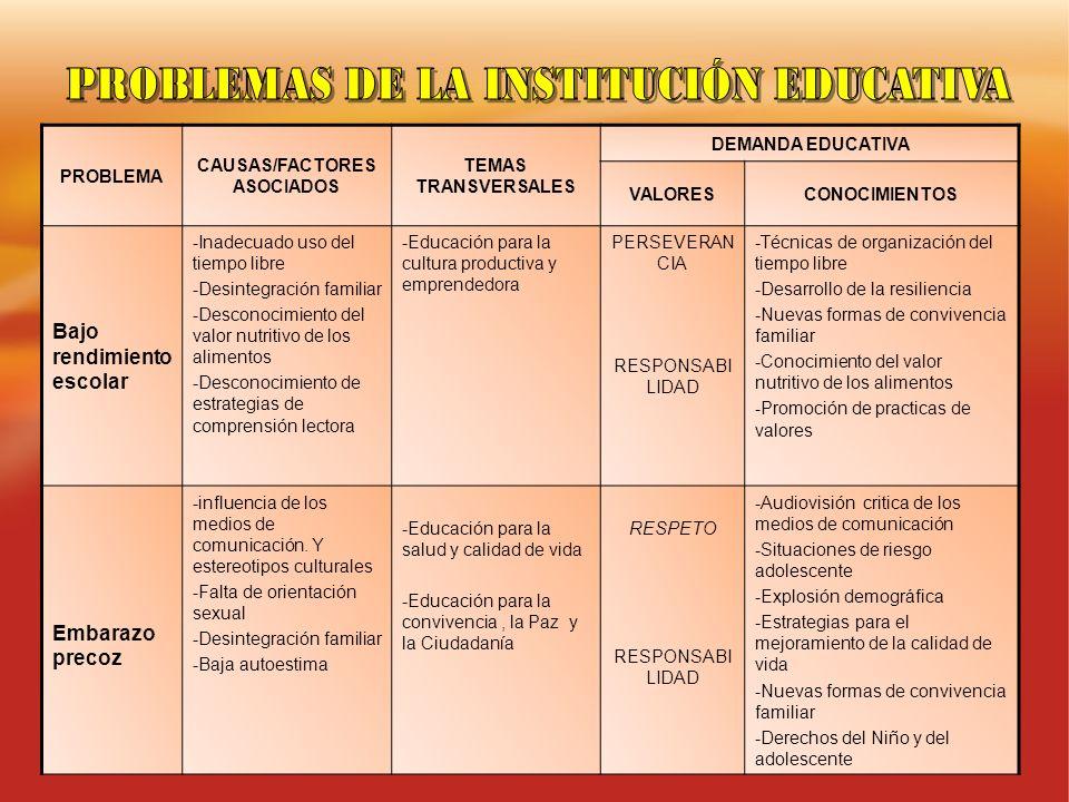 CAUSAS/FACTORES ASOCIADOS