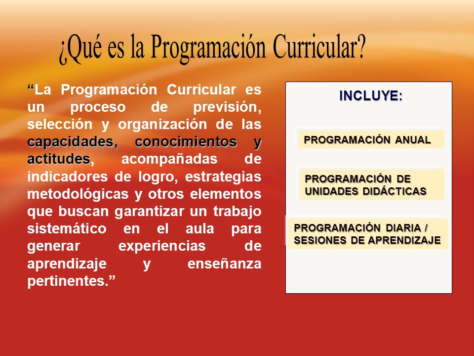 ¿Qué es la Programación Curricular