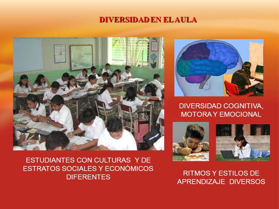 DIVERSIDAD EN EL AULA DIVERSIDAD COGNITIVA, MOTORA Y EMOCIONAL
